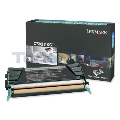LEXMARK C736DN TONER CARTRIDGE BLACK RP 12K